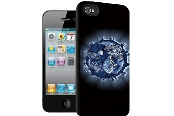 iPhone 5/5S/SE 3D-Back-Cover, Tiger & Drache