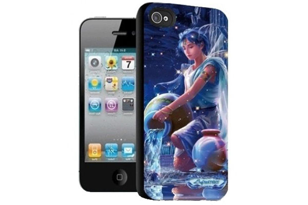 iPhone 5/5S/SE 3D-Back-Cover, Sternzeichen Wassermann