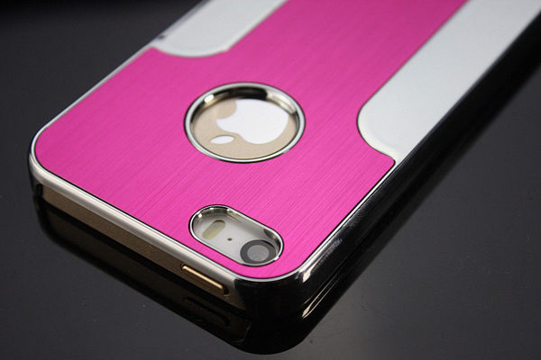 iPhone 5/5S/SE Aluminium Back-Cover, pink