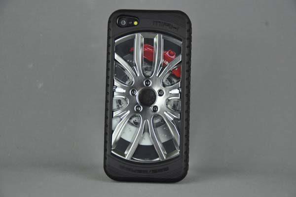 MIAK iPhone 5/5S/SE Reifen-Back-Cover, silber