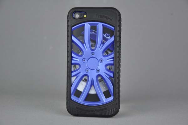 MIAK iPhone 5/5S/SE Reifen-Back-Cover, blau