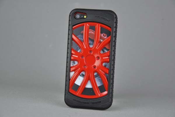 MIAK iPhone 5/5S/SE Reifen-Back-Cover, rot