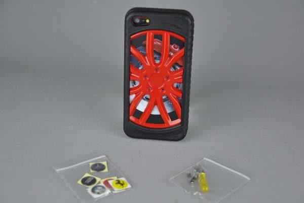 MIAK iPhone 5/5S/SE Reifen-Back-Cover, rot
