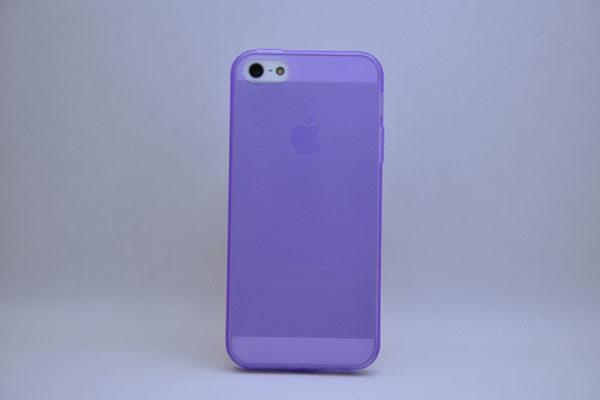 iPhone 5/5S/SE Silikon-Back-Cover, violett-transparent