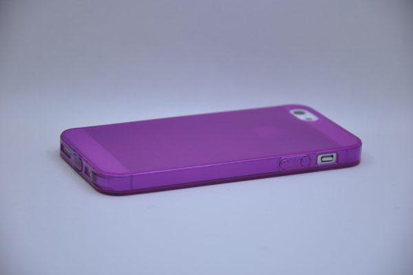 iPhone 5/5S/SE Silikon-Back-Cover, pink-transparent