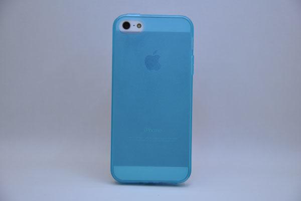 iPhone 5/5S/SE Silikon-Back-Cover, türkis-transparent