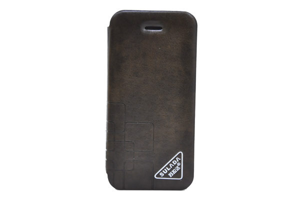 Sulada iPhone 5/5S/SE Luxury Flip-Case, braun