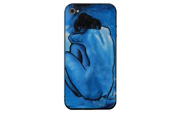 iPhone 5/5S/SE Decal-Folie °Picasso - Blue Nude°