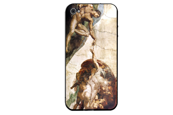iPhone 5/5S/SE Decal-Folie °Michelangelo - Creation of Adam°