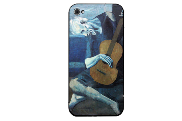 iPhone 5/5S/SE Decal-Folie °Picasso - Old Guitarist°