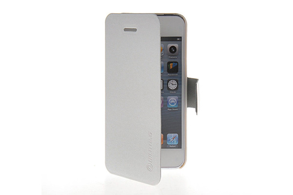 Bilitong iPhone 5/5S/SE PU-Leder-Case, weiss