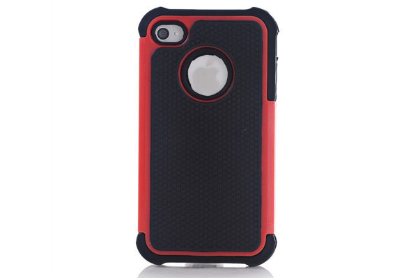 iPhone 5/5S/SE Hybrid-Case, schwarz-rot