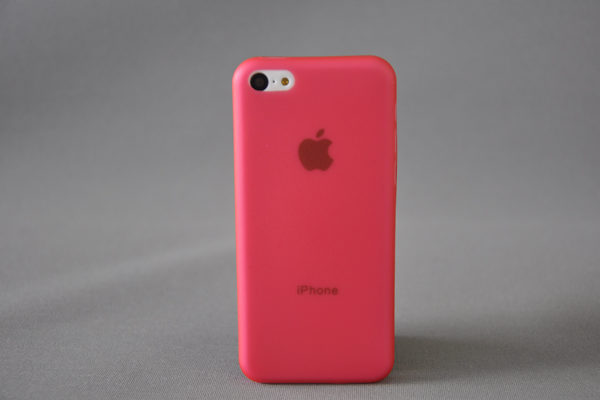 Bridge94 iPhone 5C Back-Cover 0.3mm, rot