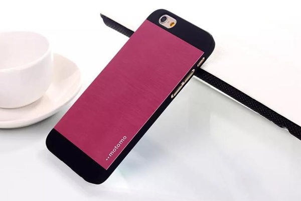 Motomo iPhone 6/6S Aluminium-Back-Cover, pink