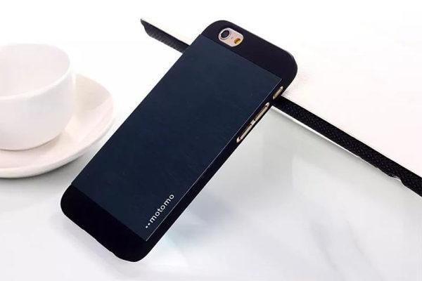 Motomo iPhone 6/6S Aluminium-Back-Cover, dunkelblau
