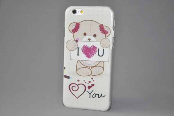 iPhone 6 Plus / Plus S Back-Cover Bär I Love You