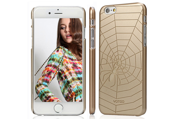 YOTOO iPhone 6 Plus / Plus S Back-Cover Golden Serie, SPINNENNETZ