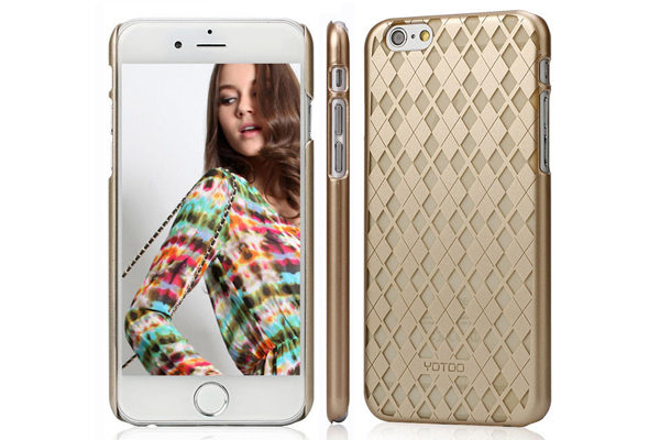 YOTOO iPhone 6 Plus / Plus S Back-Cover Golden Serie, KAROMUSTER