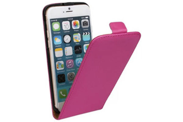 Bridge94 iPhone 6 Plus / Plus S PU-Leder-Flip-Case vertikal, dunkelrosa