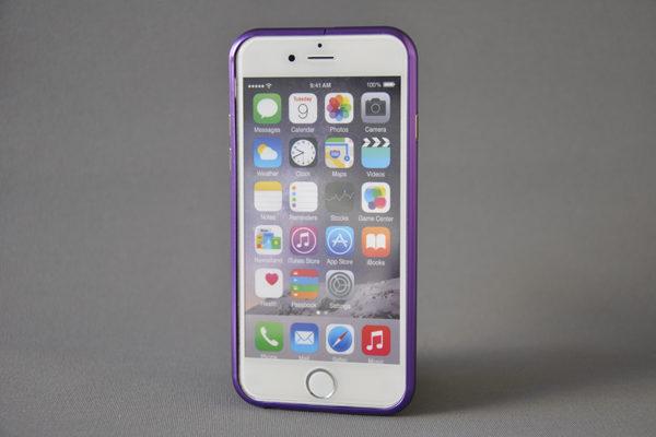 iPhone 6/6S Aluminium-Bumper, violett