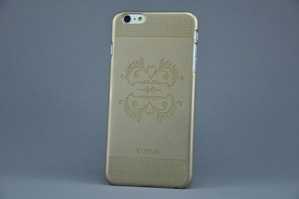 Zenus iPhone 6 Plus / Plus S Back-Cover, gold mit Muster