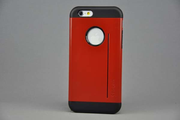 iPhone 6/6S SlimFit Back-Cover mit Kreditkarten-Stand, rot