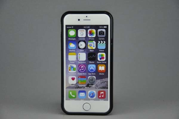 iPhone 6/6S SlimFit Back-Cover mit Kreditkarten-Stand, schwarz