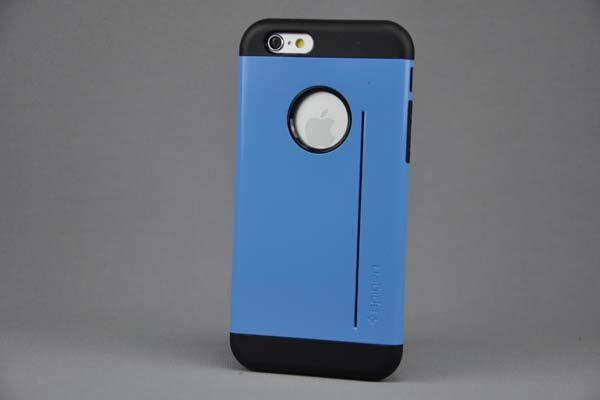 iPhone 6/6S SlimFit Back-Cover mit Kreditkarten-Stand, blau