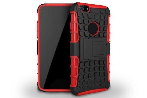 iPhone 6 Plus/6 Plus S Shockproof-Case mit Stand, weinrot