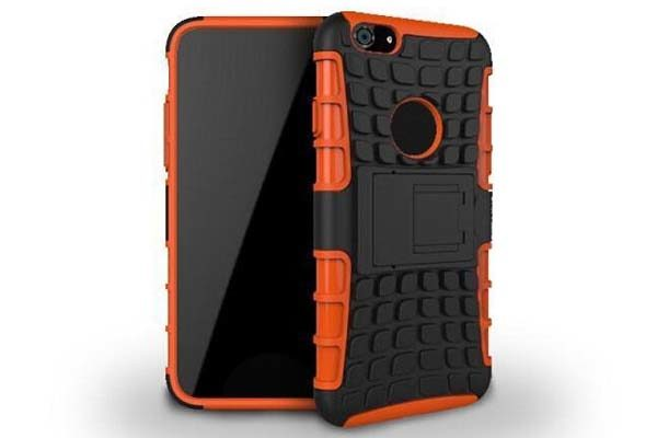 iPhone 6 Plus/6 Plus S Shockproof-Case mit Stand, orange
