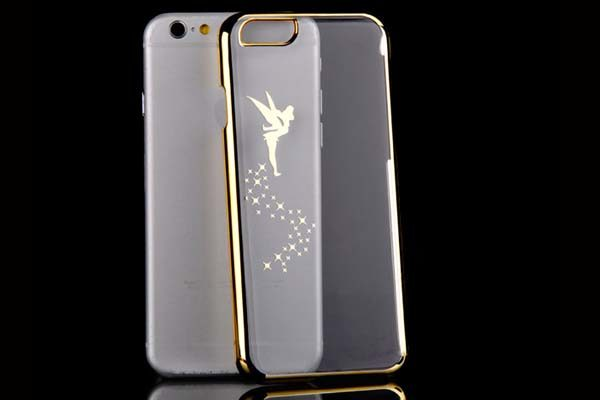 iPhone 6/6S transparent Electroplating Hard-Back-Cover, gold mit Fee