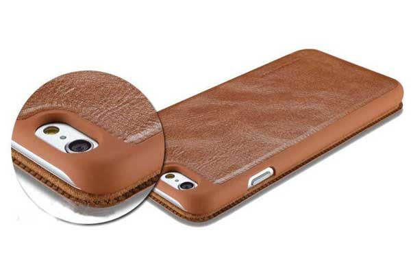 G-Case iPhone 6/6S Premium-Leder Flip-Case, weiss