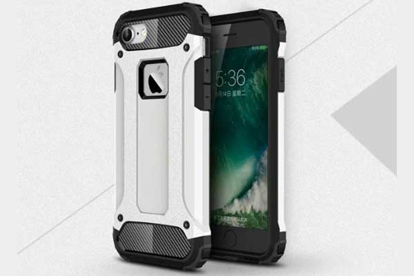 iPhone 7 Shockproof Hybrid Schutz-Back-Cover, weiss