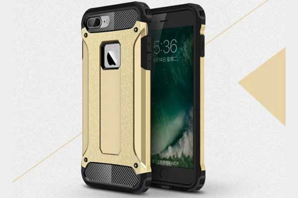 iPhone 7 Shockproof Hybrid Schutz-Back-Cover, gold