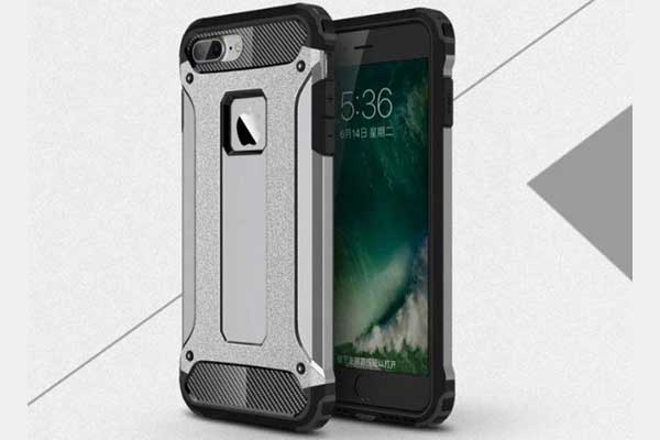 iPhone 7 Shockproof Hybrid Schutz-Back-Cover, grau