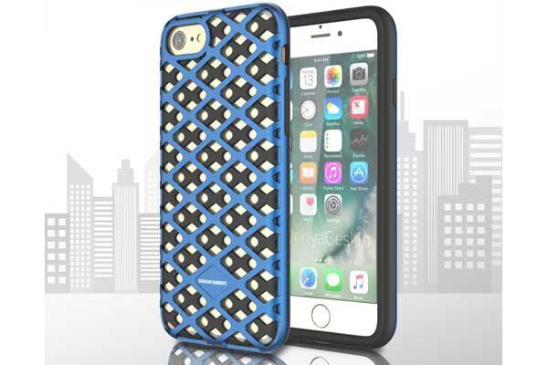 Urban-Knight Series TPU+PC Back-Cover iPhone 7, blau