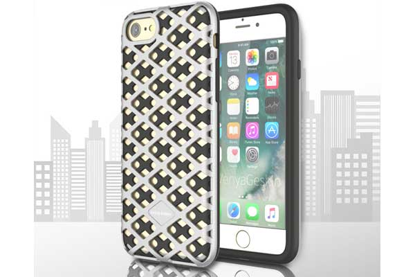 Urban-Knight Series TPU+PC Back-Cover iPhone 7, silber