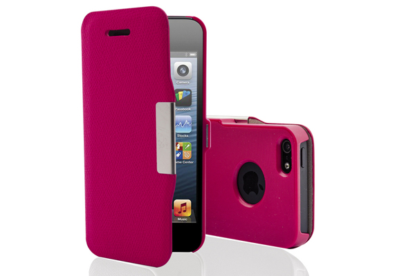 Phonix Italia iPhone 5/5S/SE Leather Portfolio Case, rot