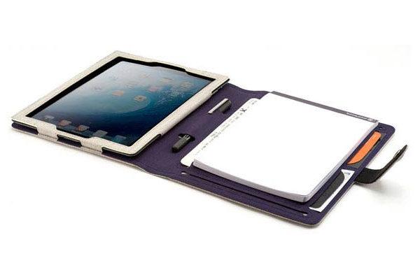 booq Booqpad Polyester-Tasche mit integr. Notizblock für iPad 2/3/4, beige