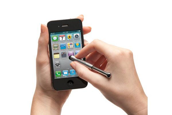 Kensington Virtuoso Mini - Ausziehbarer Stift mit Dockhalterung für iPad, iPhone & iPod touch mit 30 Pin Dock Connector, schwarz