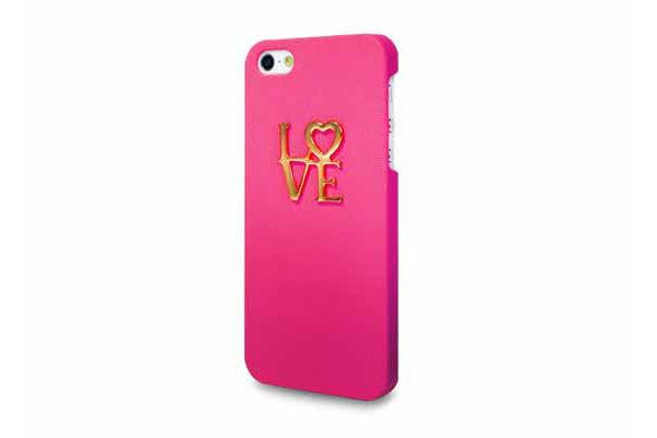 Ultra Case iPhone 5/5S/SE Hard Case Design °Love°, dunkelrosa