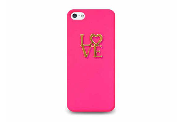 Ultra Case iPhone 5/5S/SE Hard Case Design °Love°, dunkelrosa