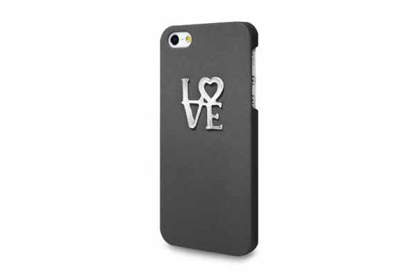 Ultra Case iPhone 5/5S/SE Hard Case Design °Love°, schwarz