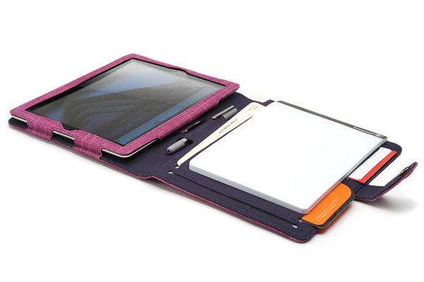 booq Booqpad Polyester-Tasche mit integr. Notizblock für iPad 2/3/4, violett