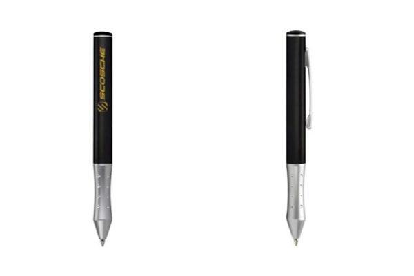 Scosche Stylus und Stift - 2-farbiger Kugelschreiber (Mine rot + schwarz), schwarz