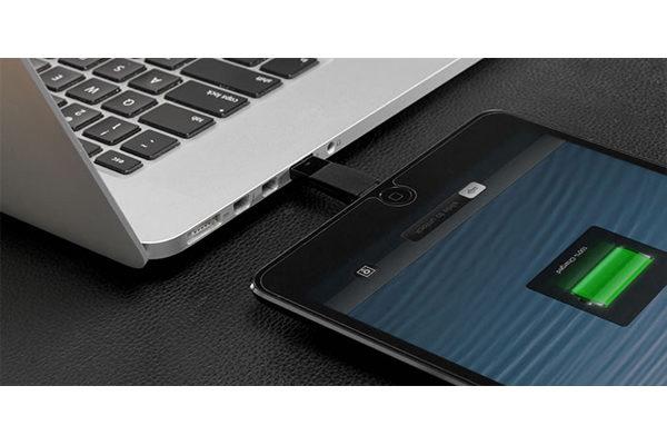 Bluelounge Kii Lightning Adapter, Ladegerät für alle iPhone und iPad mit Lightning-Anschluss, schwarz
