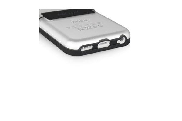 Macally Schutzhülle mit Ständer für iPhone 5C, schwarz