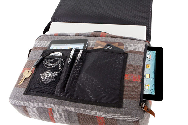 HEX Westmore Collection - Messenger für iPad 1-4/Air, gestreift