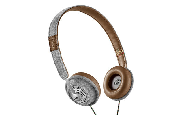 Marley Harambe On-Ear Kopfhörer mit 1-Button Remote/Mic - Saddle Grey