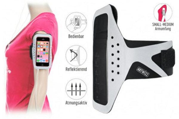 Artwizz Sportsband für den Oberarm, passend für iPhone 5/5C/5S/SE, grau